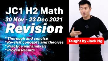 A Level JC H2 Math JC1 Topical Crash Course